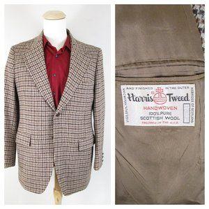 Vintage Harris Tweed Brown Tan Tweed Sport Coat